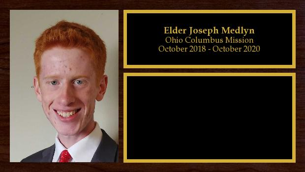 October 2018 to October 2020<br/>Elder Joseph Medlyn