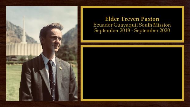 September 2018 to September 2020<br/>Elder Treven Paxton