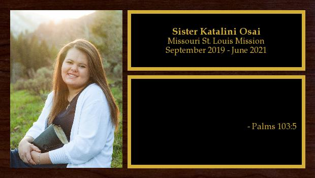 July 2019 to March 2020<br/>Sister Katalini Osai