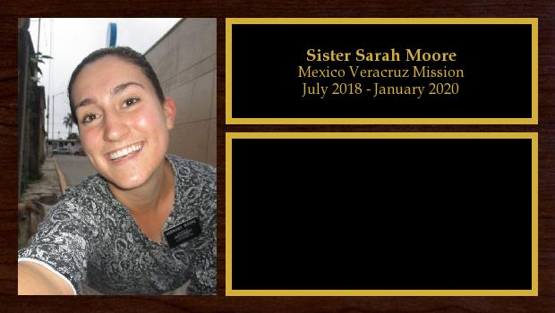 July 2018 to January 2020<br/>Sister Sarah Moore