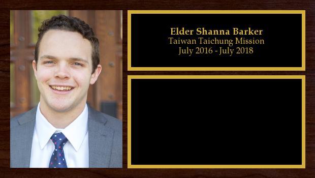July 2016 to July 2018<br/>Elder Adam Barker