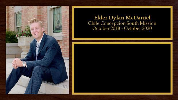October 2018 to September 2020<br/>Elder Dylan McDaniel