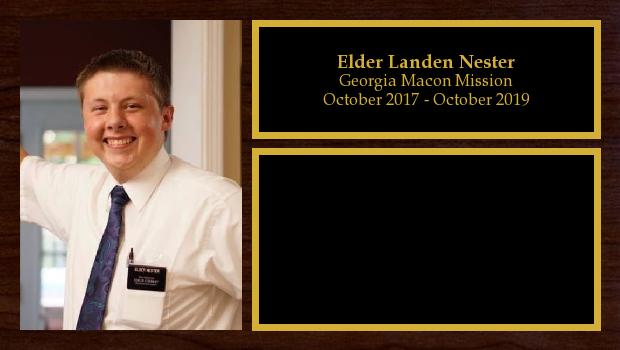 October 2017 to October 2019<br/>Elder Landen Nester