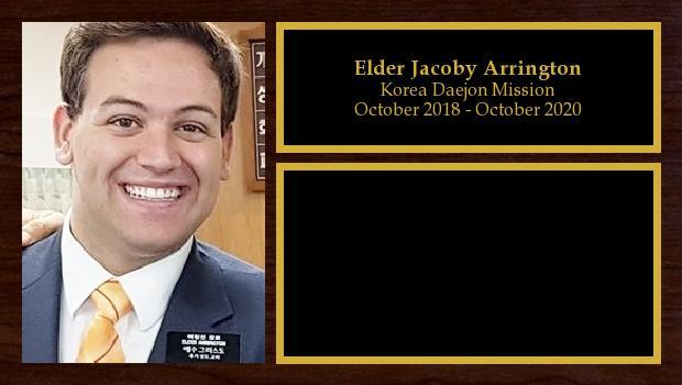October 2018 to October 2020<br/>Elder Jacoby Arrington
