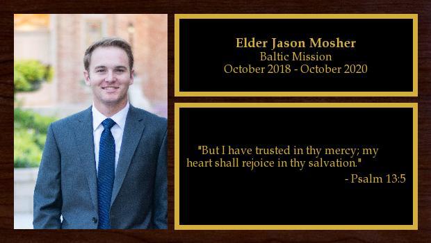 October 2018 to October 2020<br/>Elder Jason Mosher