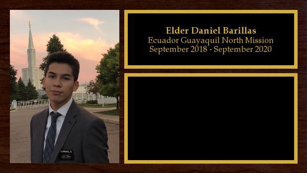 September 2018 to September 2020<br/>Elder Daniel Barillas