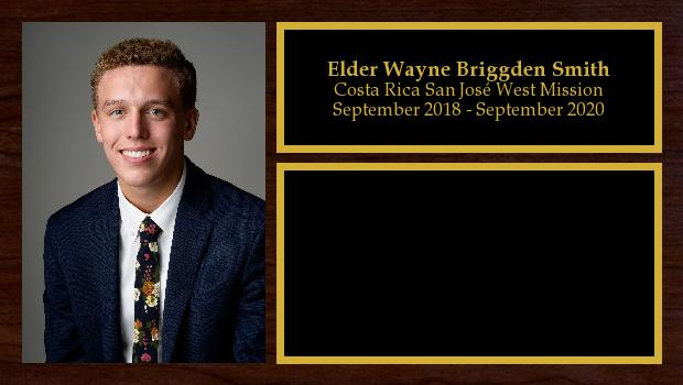 September 2018 to September 2020<br/>Elder Wayne Briggden Smith