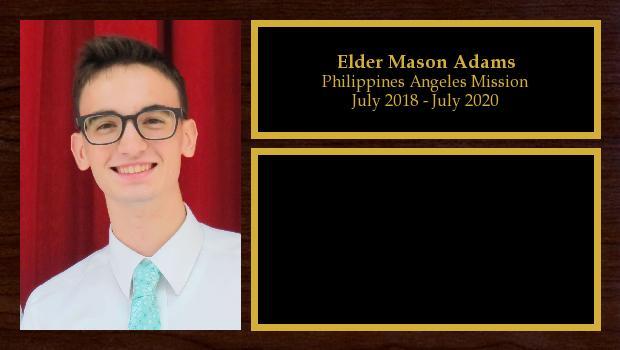 July 2018 to June 2020<br/>Elder Mason Adams