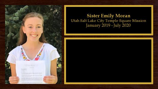 January 2019 to July 2020<br/>Sister Emily Moran