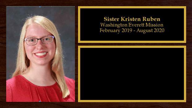 February 2019 to August 2020<br/>Sister Kristen Ruben