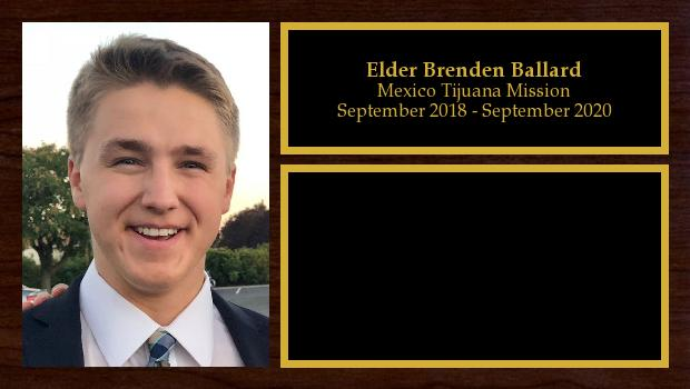 September 2018 to September 2020<br/>Elder Brenden Ballard