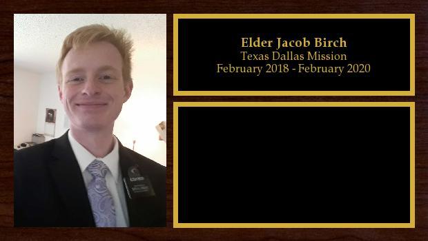 February 2018 to February 2020<br/>Elder Jacob Birch