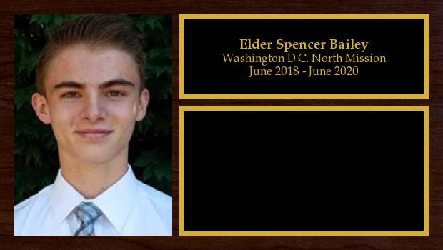 June 2018 to June 2020<br/>Elder Spencer Bailey