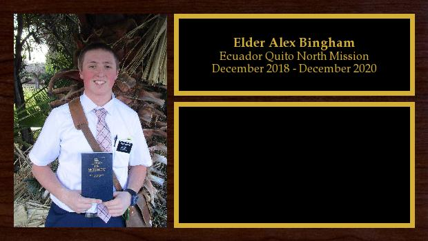 December 2018 to December 2020<br/>Elder Alex Bingham