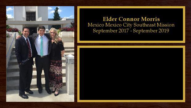 September 2017 to September 2019<br/>Elder Connor Morris