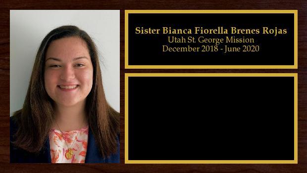 December 2018 to June 2020<br/>Sister Bianca Fiorella Brenes Rojas