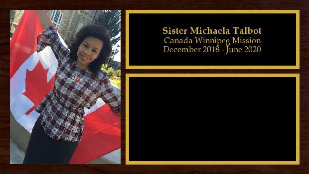 December 2018 to June 2020<br/>Sister Michaela Talbot