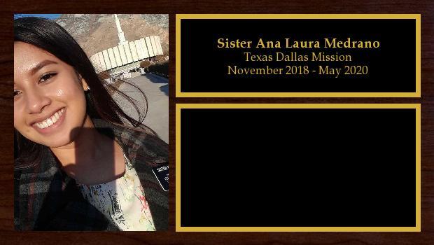 November 2018 to May 2020<br/>Sister Ana Laura Medrano