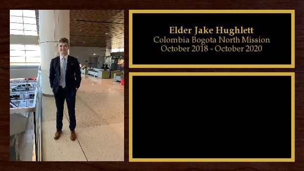 October 2018 to October 2020<br/>Elder Jake Hughlett