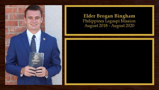 August 2018 to July 2020<br/>Elder Brogan Bingham