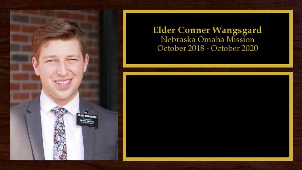 October 2018 to October 2020<br/>Elder Conner Wangsgard