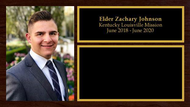 June 2018 to June 2020<br/>Elder Zachary Johnson