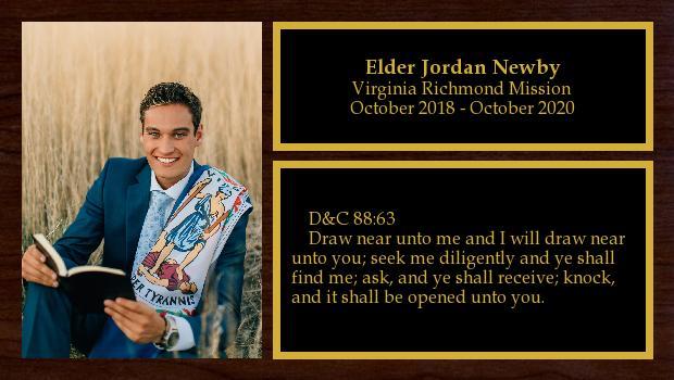 October 2018 to October 2020<br/>Elder Jordan Newby