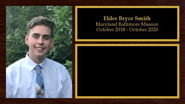 October 2018 to October 2020<br/>Elder Bryce Smith