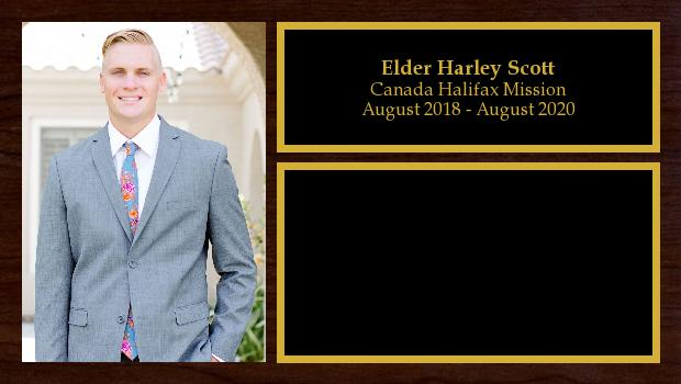 August 2018 to August 2020<br/>Elder Harley Scott