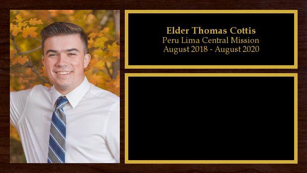 August 2018 to August 2020<br/>Elder Thomas Cottis