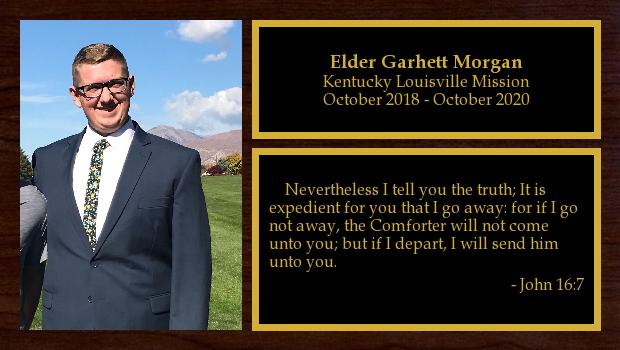October 2018 to October 2020<br/>Elder Garhett Morgan