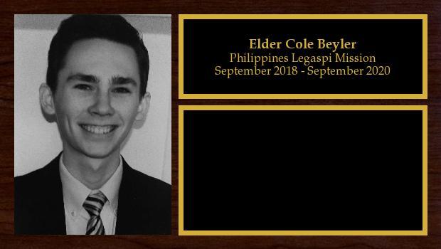 September 2018 to March 2020<br/>Elder Cole Beyler