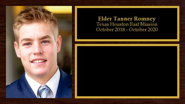 October 2018 to October 2020<br/>Elder Tanner Romney