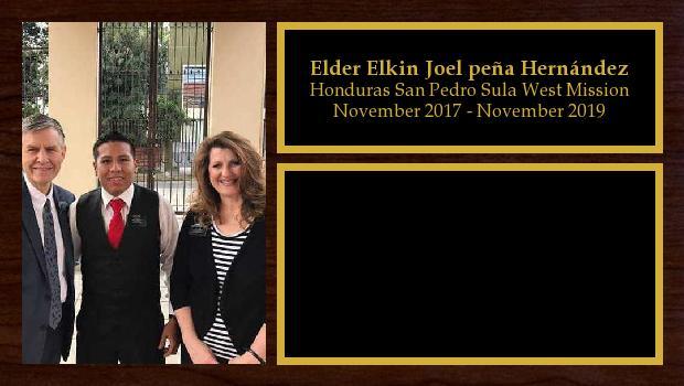 November 2017 to November 2019<br/>Elder Elkin Joel peña Hernández