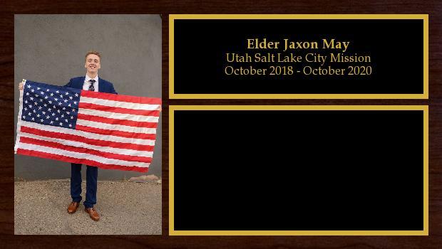 October 2018 to October 2020<br/>Elder Jaxon May