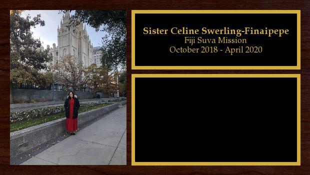 October 2018 to April 2020<br/>Sister Celine Swerling-Finaipepe