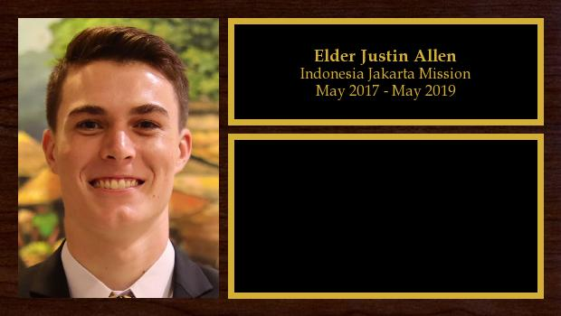May 2017 to May 2019<br/>Elder Justin Allen
