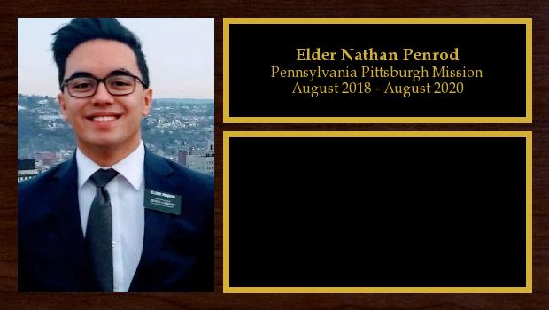 August 2018 to May 2020<br/>Elder Nathan Penrod