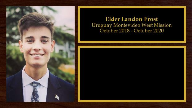 October 2018 to October 2020<br/>Elder Landon Frost