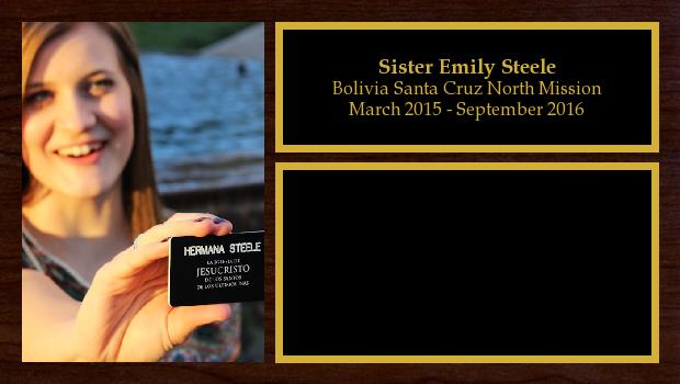 March 2015 to September 2016<br/>Sister Emily Steele