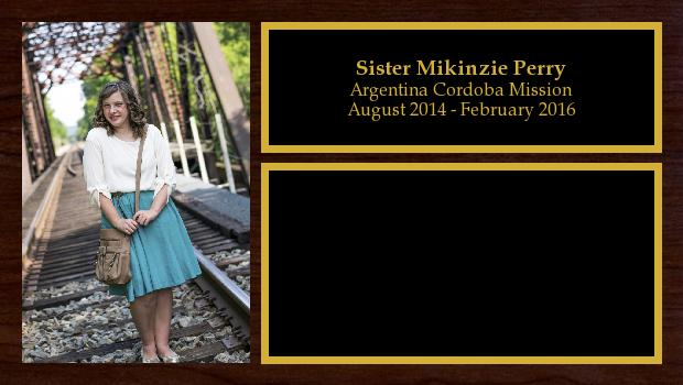 August 2014 to February 2016<br/>Sister Mikinzie Perry