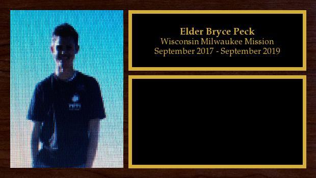 September 2017 to September 2019<br/>Elder Bryce Peck