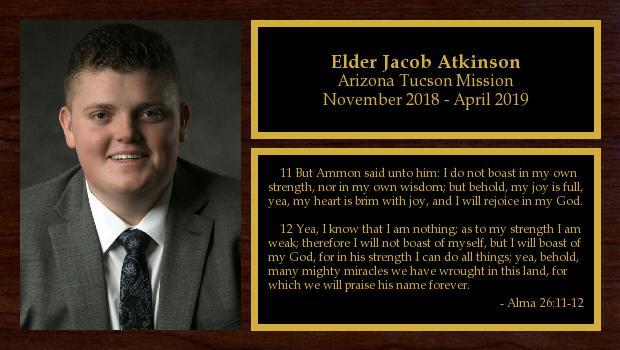 November 2018 to April 2019<br/>Elder Jacob Atkinson