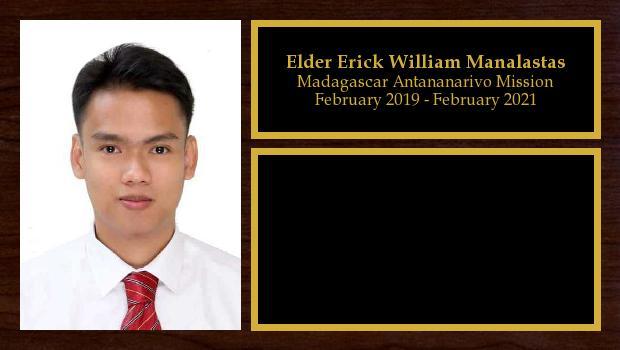 March 2019 to March 2021<br/>Elder Erick William Manalastas