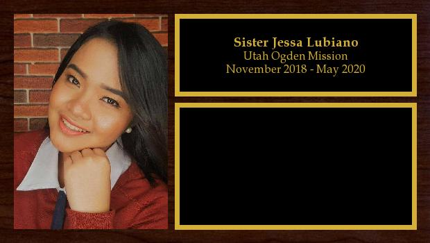 November 2018 to May 2020<br/>Sister Jessa Lubiano