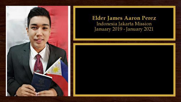 January 2019 to January 2021<br/>Elder James Aaron Perez