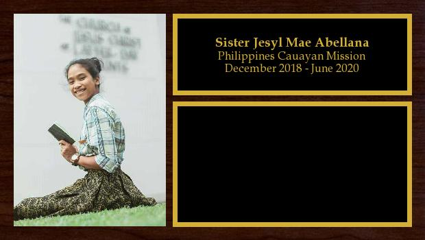 December 2018 to June 2020<br/>Sister Jesyl Mae Abellana