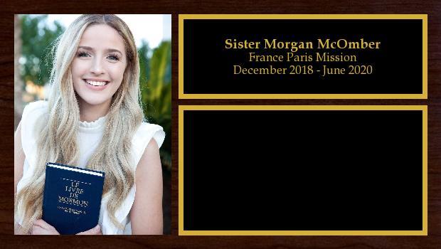December 2018 to June 2020<br/>Sister Morgan McOmber