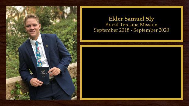 September 2018 to September 2020<br/>Elder Samuel Sly
