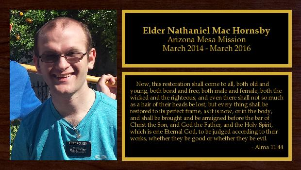 March 2014 to March 2016<br/>Elder Nathaniel Mac Hornsby